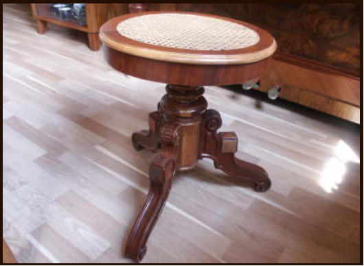 restored piano stool